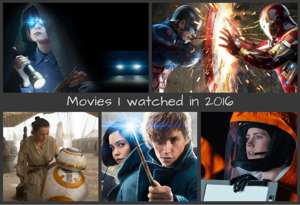 Movies I watched in 2016